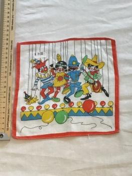 Printed child's hankie - clowns 1