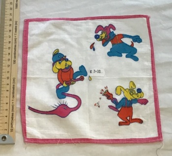 Printed child's hankie - dogs 1
