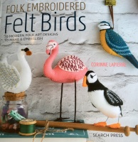 Book - Folk Embroidered Felt Birds  by Corinne Lapierre