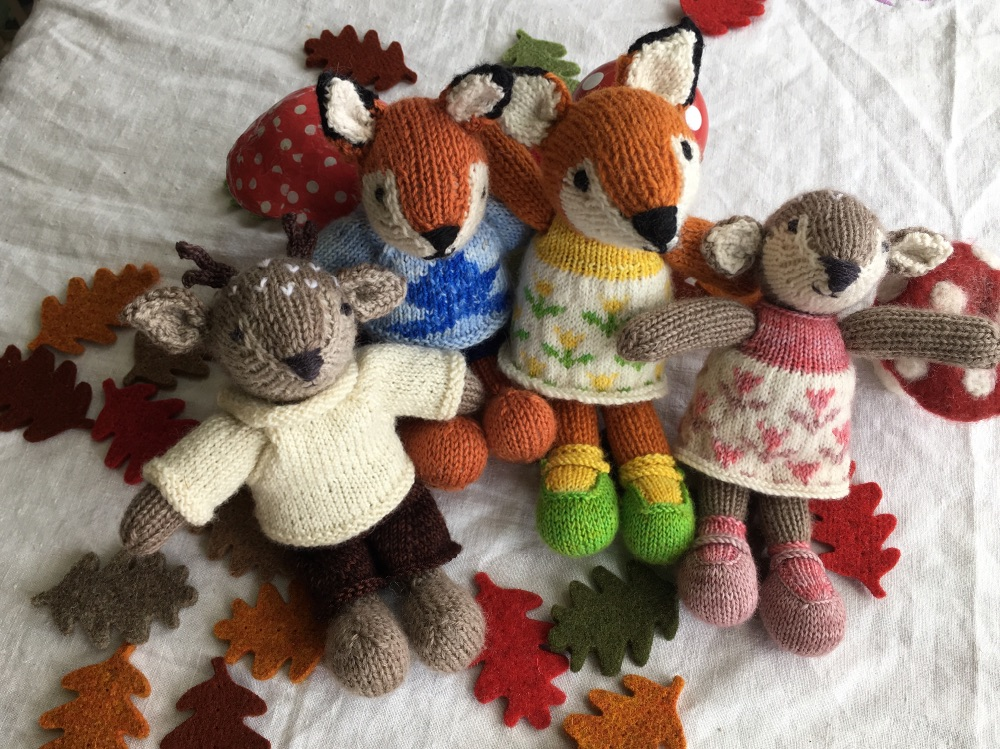 Autumnal Little Cotton Rabbits Kits and patterns