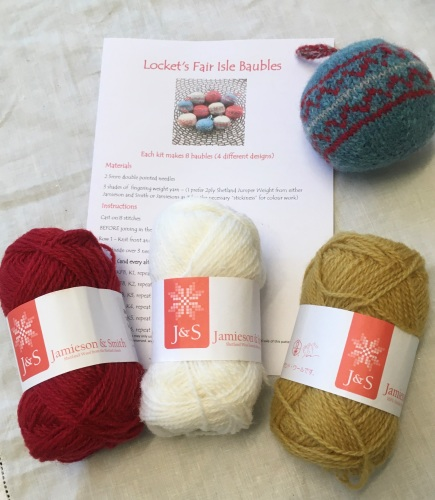 Locket's Fair Isle Bauble Kit 2 - red and gold