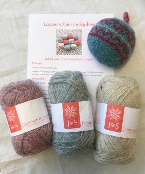 Locket's Fair Isle Bauble Kit 5 -  pretty pastels