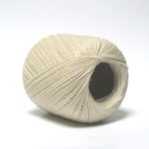 2ply Shetland Supreme Lace - natural cream