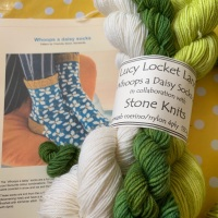 Whoops a Daisy Sock Kit -  Happy, Sunny  green