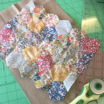 Small Liberty Hexie cushion kit