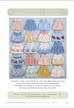 *New*  Small Dresses Pattern booklet for baby bunnies