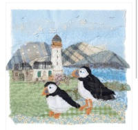 Tweedie Puffins Greetings Card