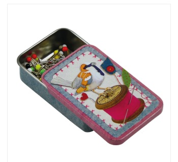 Stitched Bobbin Birdies Pocket Tin