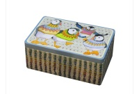 Woolly Puffin rectangular tin