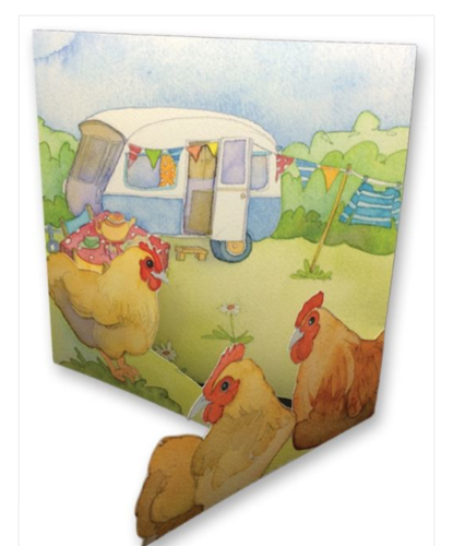 Glamping Greetings Card