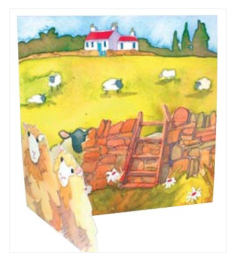 On The Farm Greetings Card