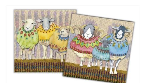Sheep In Sweaters Mini Card Pack