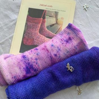 New!!! ZikZak Sock Set  with Stone Knits #11