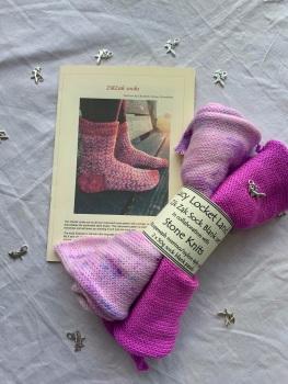 New!!! ZikZak Sock Set  with Stone Knits  #8