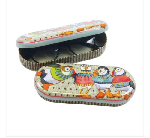 Woolly Puffin Glasses Case - or special goodies tin!