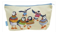 Woolly Puffin Zipped Pouch/Project bag