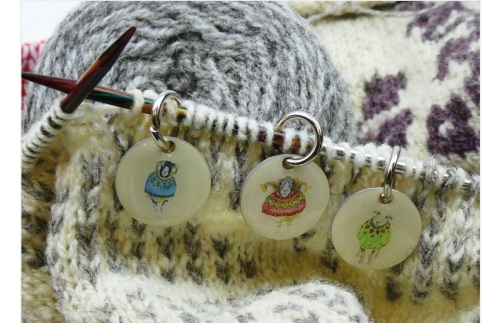 Woolly Sheep in Sweaters Stitch markers