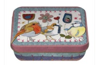 Stitched Birdies Mini Tin