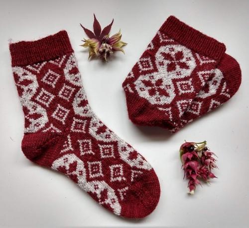 1. Cranberry  Hollingbourne Sock Set with Exmoor Sock Yarn