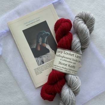 1. Rich red  Hollingbourne Sock Set with Exmoor Sock Yarn