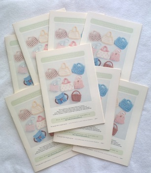 *New*  Toy Bags and Baskets Pattern booklet for big and baby bunnies
