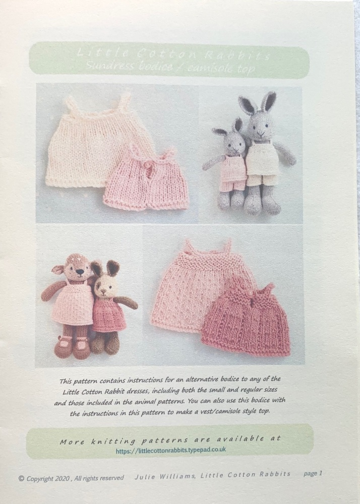*New*  Toy Bags and Baskets Pattern booklet for baby bunnies