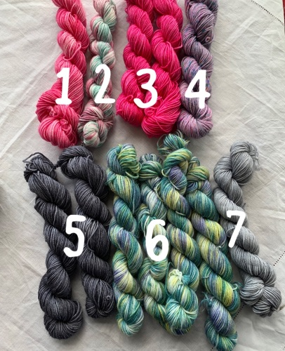 20g  Mini Skeins hand dyed by YarnAlly