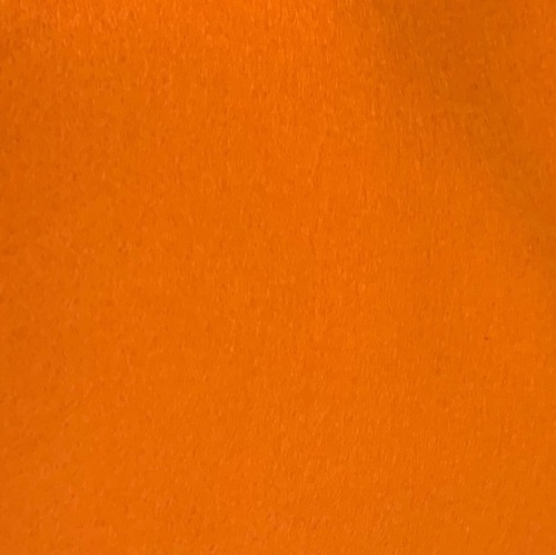 Medium sized Wool Felt piece  - carrot orange