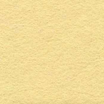 Medium sized Wool Felt piece  - creamy yellow