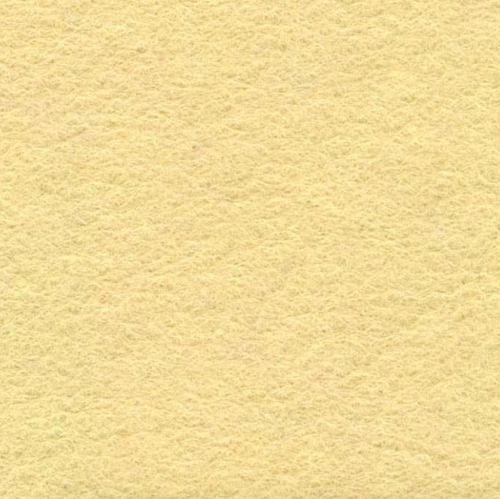 Medium sized Wool Felt piece  - creamy yellow