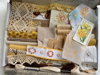 Fabric & Ephemera Inspiration Pack  3 - Here comes the sun