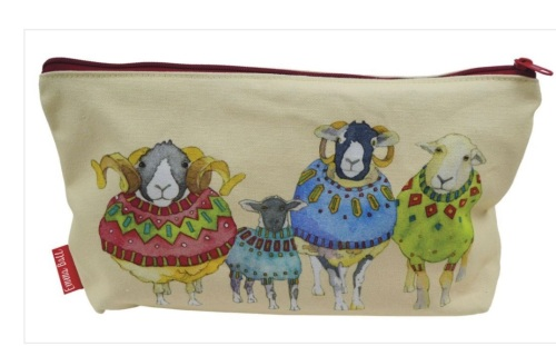 Woolly Sheep in Sweaters Zipped Pouch/Project bag