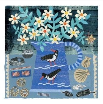 Seabirds & Daisies  Greetings Card