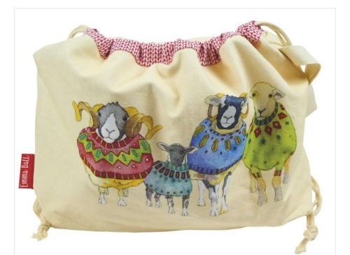 Woolly Sheep in Sweaters drawstring Project bag
