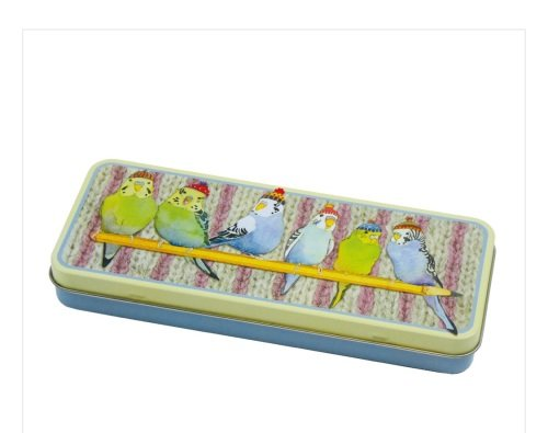 Budgies in Beanies Pencil Tin
