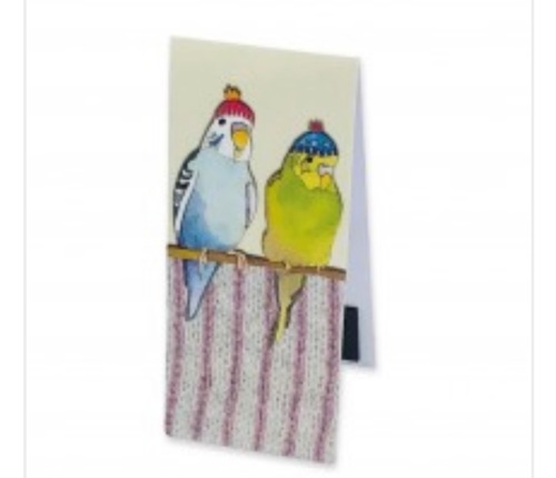 Budgies in Beanies  Magnetic Bookmark