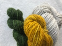 YELLOW Lucky Sunflower Mitts Kit in gorgeous Exmoor Sock Yarn