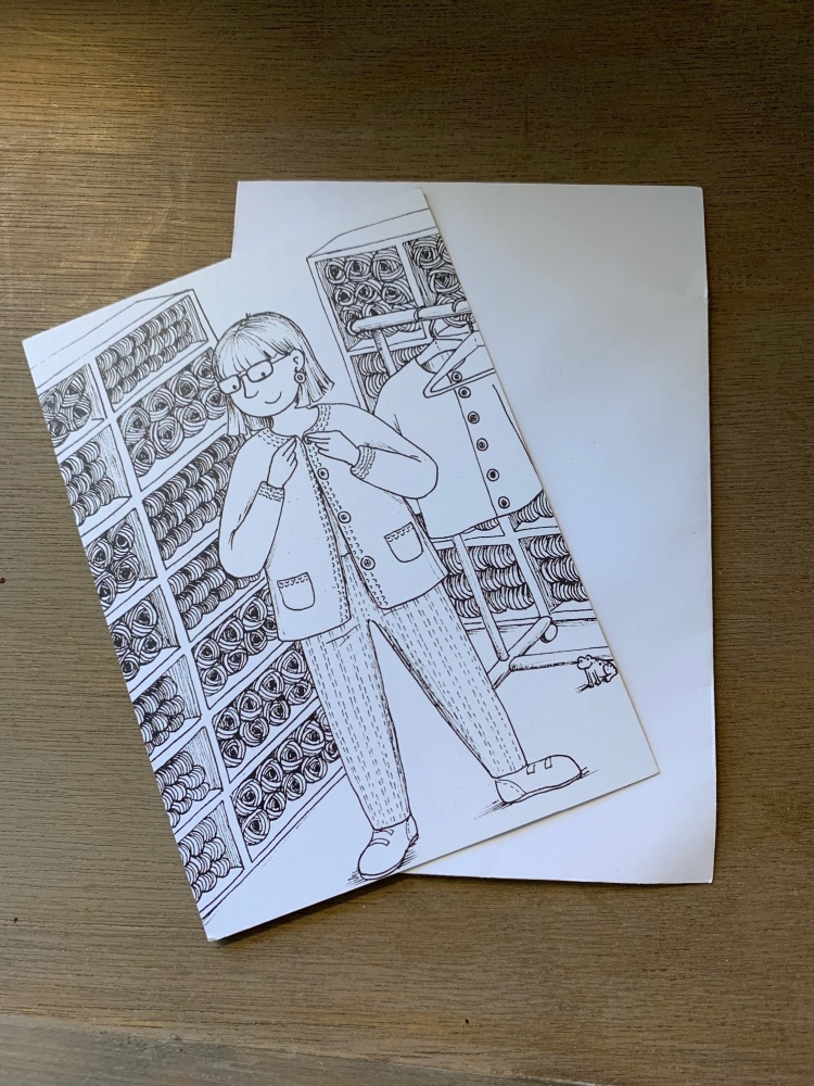 Colour-in Crafters Postcard  - At