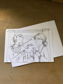 Colour-in Crafters Postcard  - Living the dream!