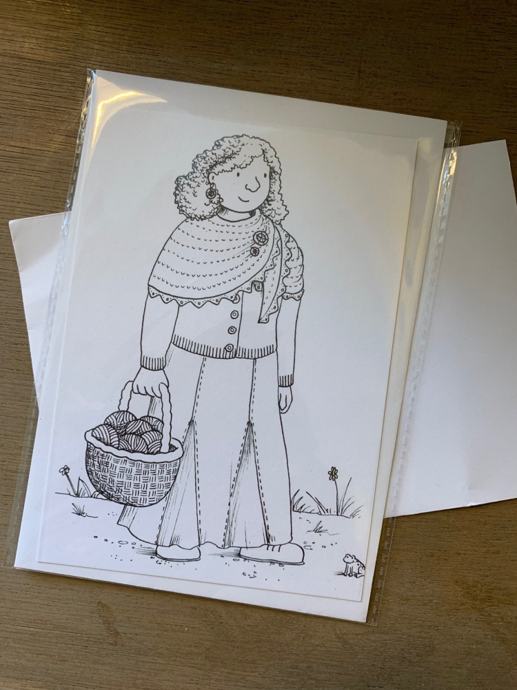 Colour-in Crafters Postcard  A  ba