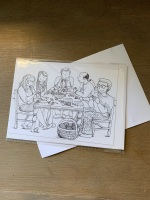 Colour-in Crafters Postcard - Knit Group #2