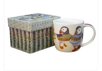 Woolly Puffin Bone China Mug (boxed)
