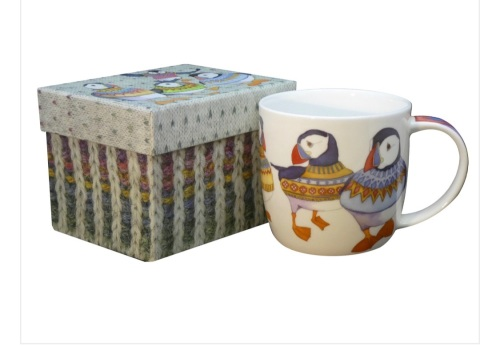 Woolly Puffin Bone China Mug (boxed)