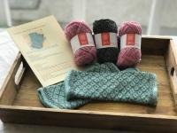 Locket's Fair Isle Trellis Mitts Kit - Pink and Charcoal