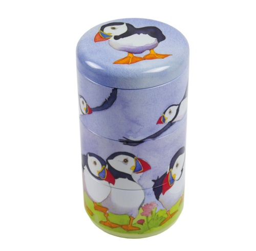 Puffins set of 3 stacking tins