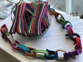 "Wool Felt ""Paper-chain"" kits from Joe's Toes"