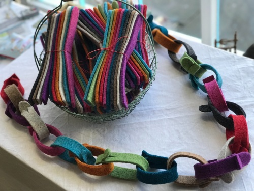 "Wool Felt ""Paper-chain"" kits from Joe's Toes"