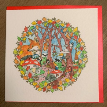 Locket's Enchanted Woodland Greetings Cards - Badger in a hat