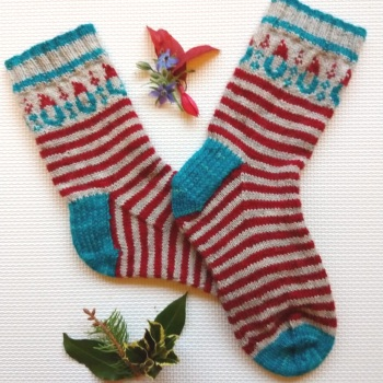Pre-order Gnomeo's Candy Canes Sock Kit