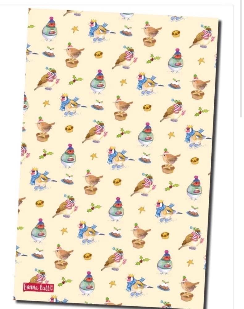 New Tea Towel - Christmas Birds